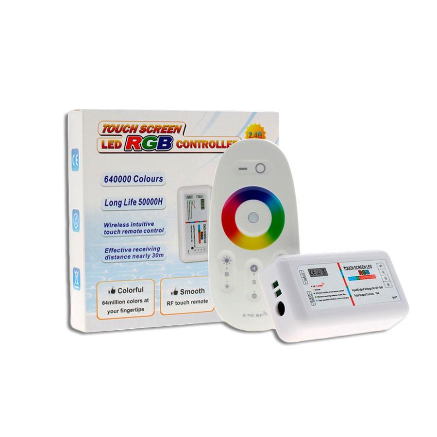 Kit 1 Refletor Led 6w Para Piscina Aço Inox Rgb + Comando Controlador