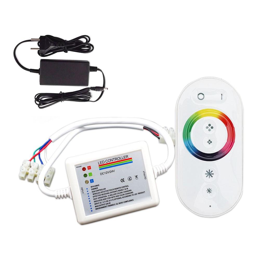 Kit 3 Led Refletor 4,5w Luminária Rgb Para Piscina + Comando controlador