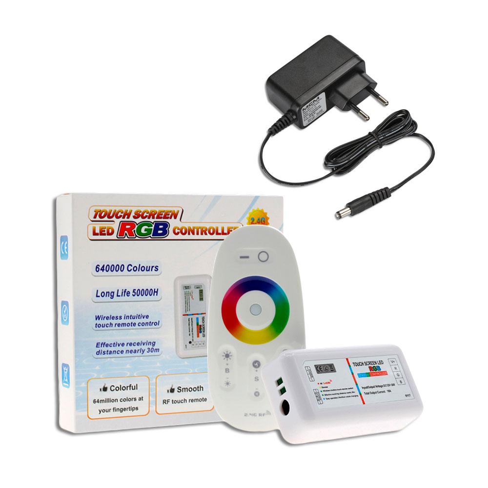 Kit 4 Leds 6w Refletor Para Piscina Luminária Rgb + Comando