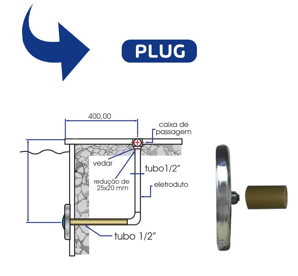 Kit 5 Led 4,5w Refletor Luminária Rgb Para Piscina + Comando Controlador
