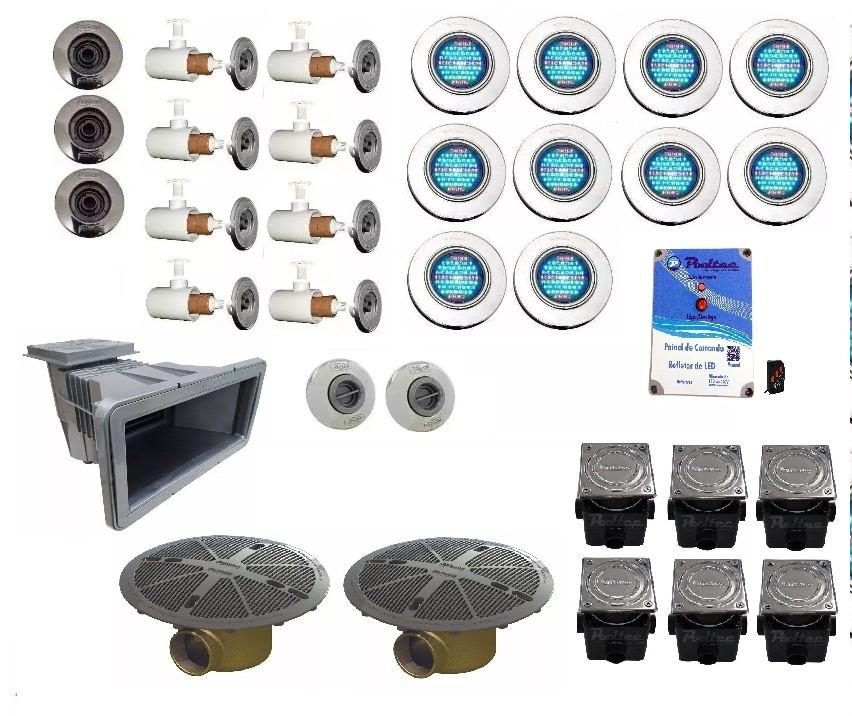 Kit Dispositivos e Iluminação Para Piscina