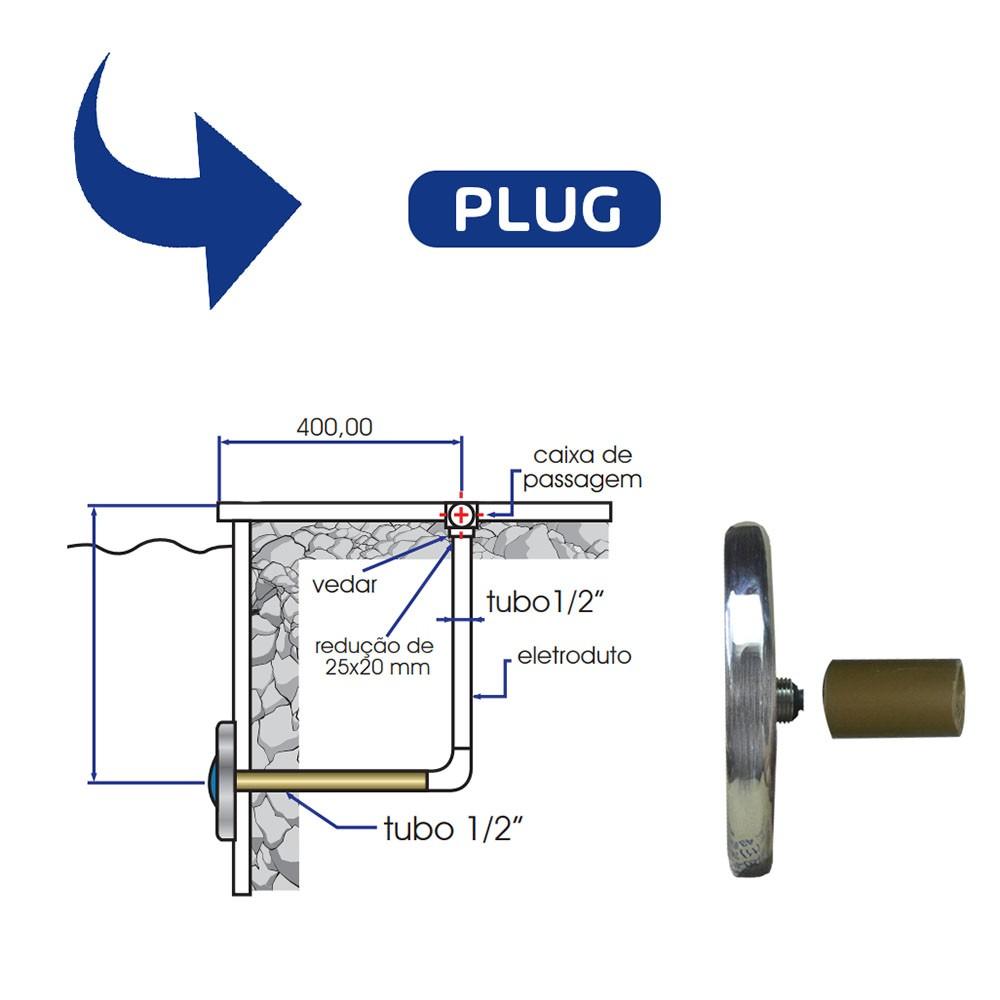 Kit Iluminação Para Piscina 1 Led 4,5w Colorido Rgb + Comando Controlador