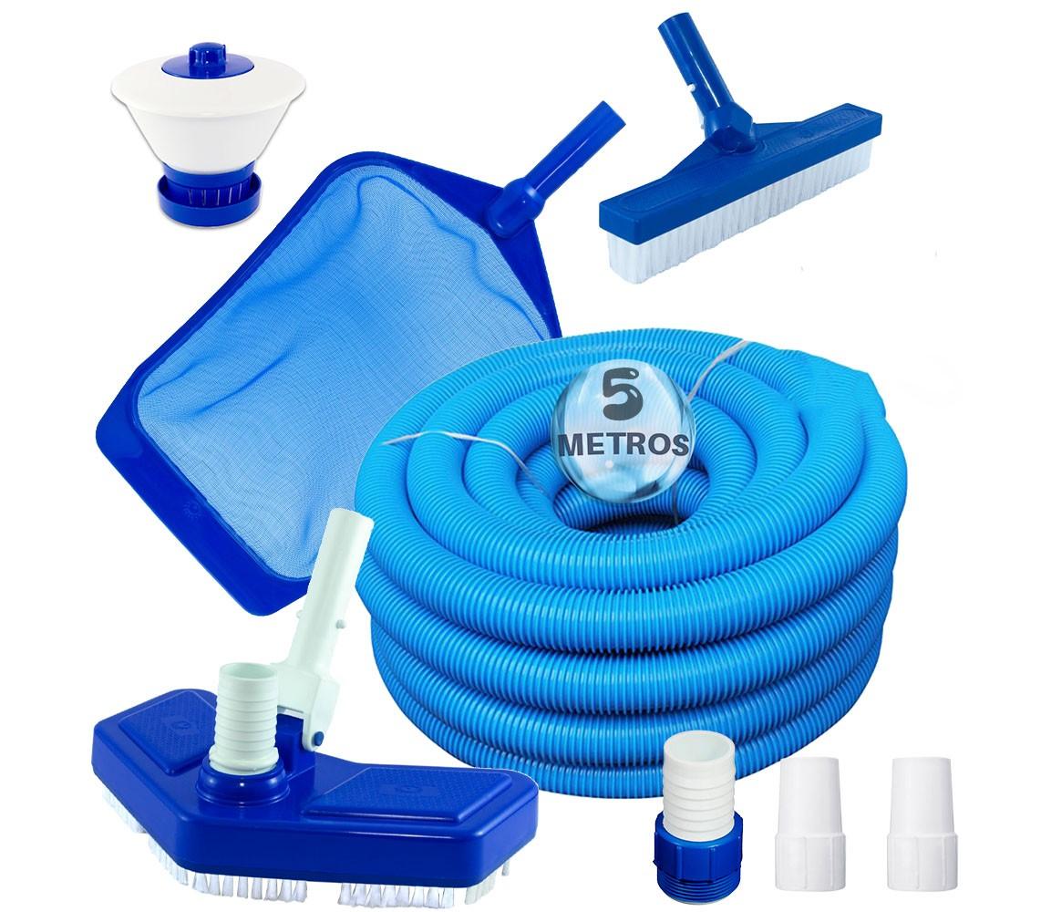 Kit para Limpeza de Piscina 7 Peças - Pooltec
