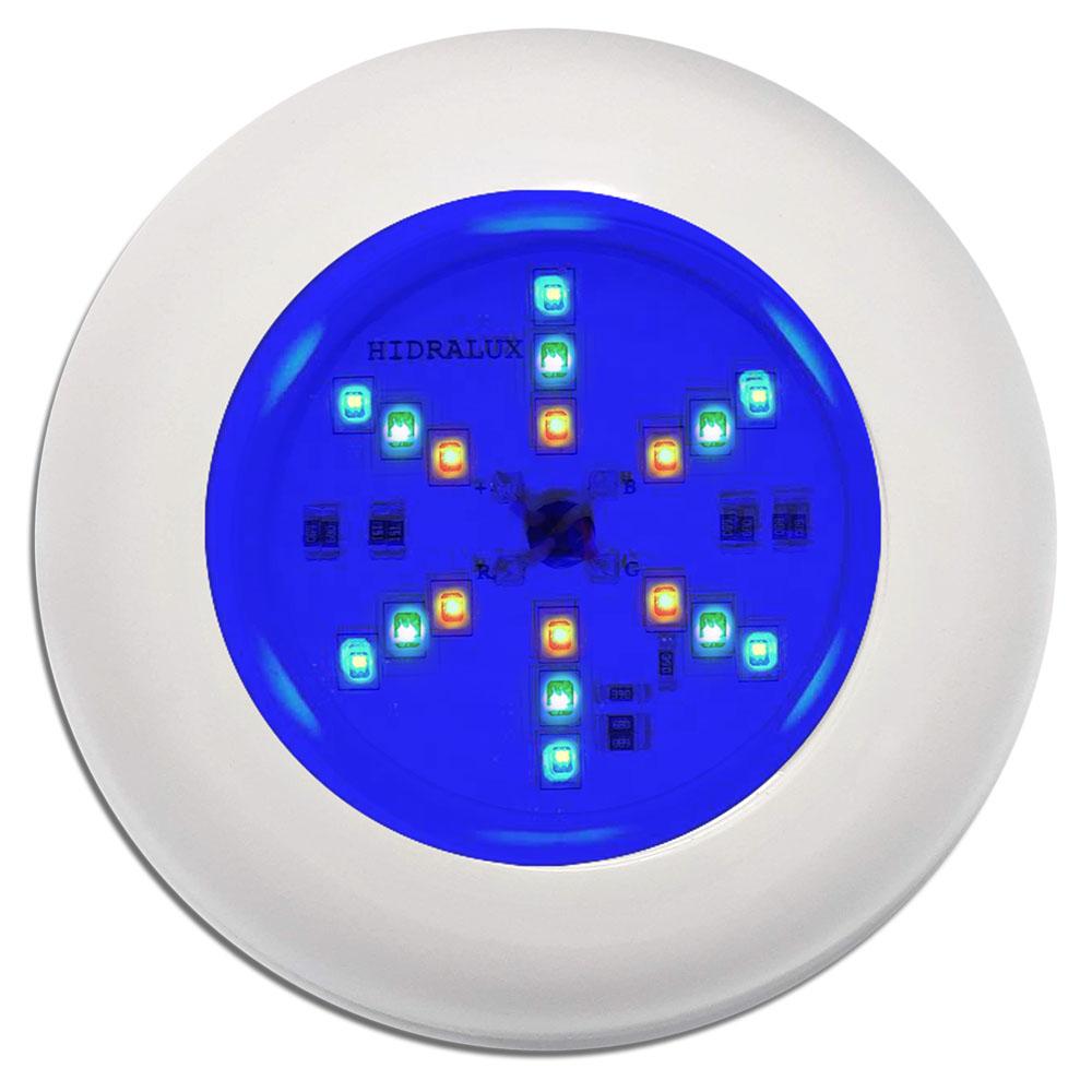 Kit Refletor Para Piscina 5 Leds 6w Luminária Rgb + Comando