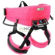 Cadeirinha para Rapel Escalada Inox UIAA Innova Safety - COR ROSA
