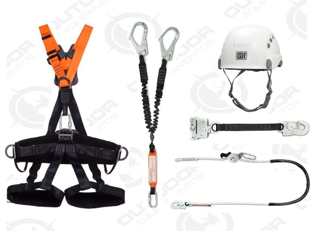 Cinto Paraquedista Talabartes Trava Quedas Capacate Kit Altura 12 Completo