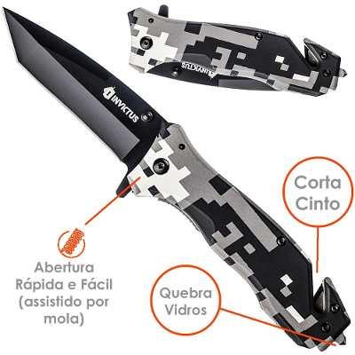 Canivete Militar Tatica Phanton Invictus