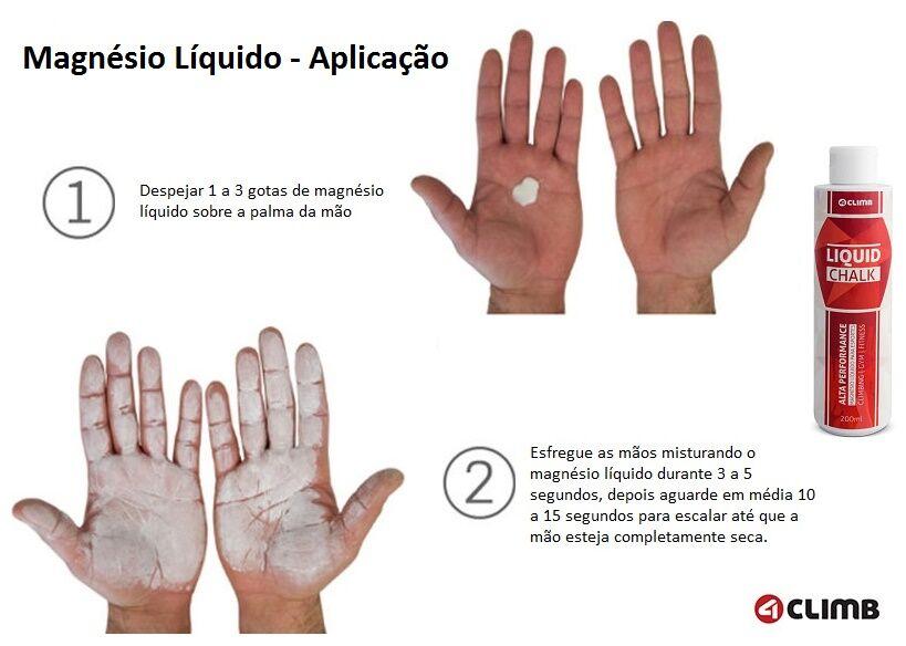 Magnésio Liquido - Liquid Chalk - Escalada - 4climb