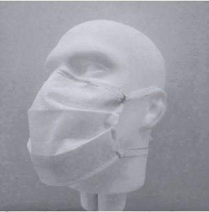 Mascara Descartável Dupla com Elástico MCD-2 50und