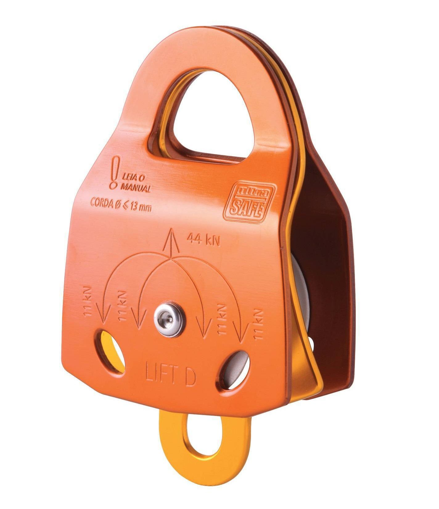 Polia Dupla Duraluminio Oscilantes 44kn Lift D Ultra Safe