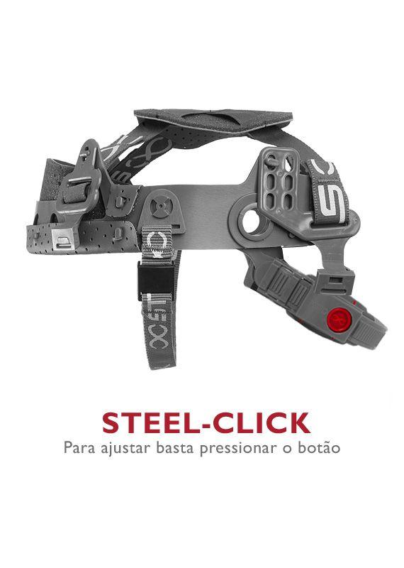 Suspensão Tipo catraca Stell-Click com Jugular Steelflex