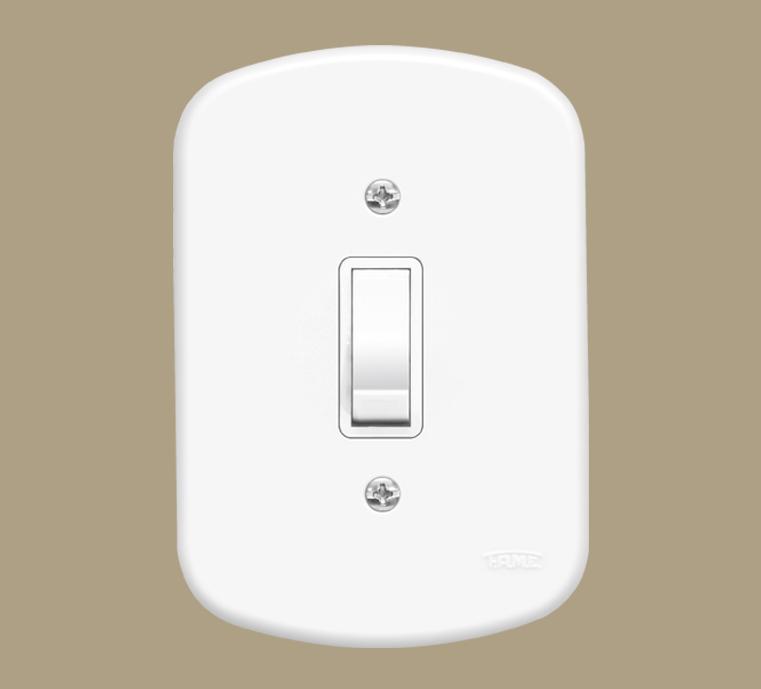Interruptor Intermediário 10A/250V Blanc 1016 Fame