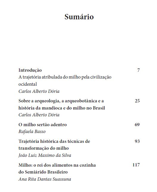 O milho na alimentação brasileira, de Carlos Alberto Dória (org.)