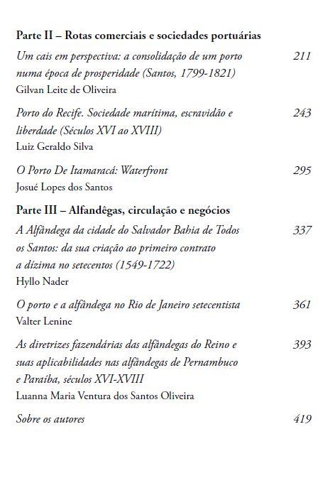 Portos coloniais, org. Marco Volpini Micheli, Thiago Dias