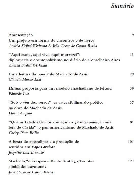 Atualidade de Machado de Assis, org. Andréa Sirihal Werkema, João Cezar de Castro Rocha