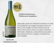 Vinho Chileno Cono Sur  20 Barrels Chardonnay 2016(750ml)