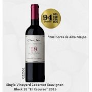 Vinho Chileno Cono Sur Single Vineyard Cabernet Sauvignon Block 18