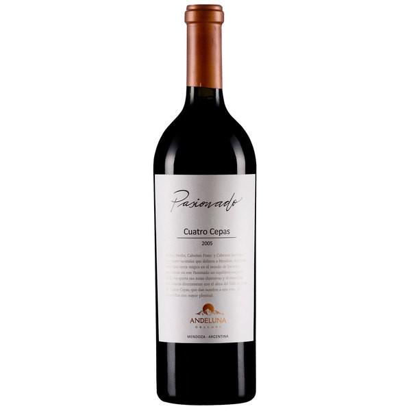 Vinho Argentino Andeluna Pasionado 4 Cepas 2015(750ml)