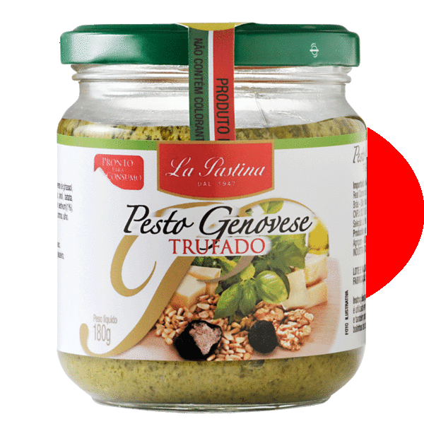 Molho Italiano La Pastina Pesto Alla Genovese com Trufas Negras(180g)