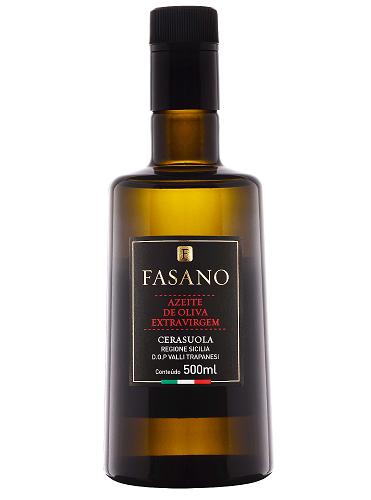 AZEITE ITALIANO FASANO EXTRA VIRGEM 100% SICILIANO CERASUOLA Acidez 0,3% (500ml)