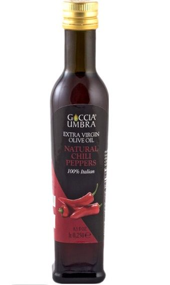 Azeite Italiano Goccia Umbra Extra Virgem Natural Chili Peppers acidez 0,5%(250ml)