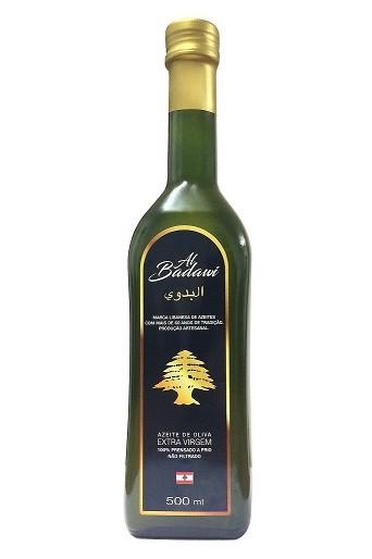 Azeite Libanés Extra Virgem não filtrado Al Badawi 0,5% Acidez (500ml)