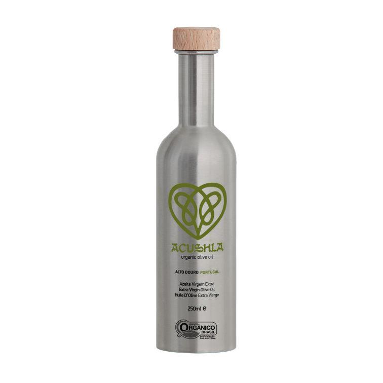 Azeite Português Orgânico  Extra Virgem Acushla Inox 0,1% Acidez(250ml)