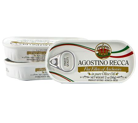 File de Anchova Italiano Agostino Recca em Azeite100% Siciliano (56g)