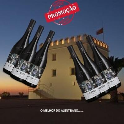 Kit 6 Unidades do Vinho Português Esporão Reserva Tinto 2017(750ml)