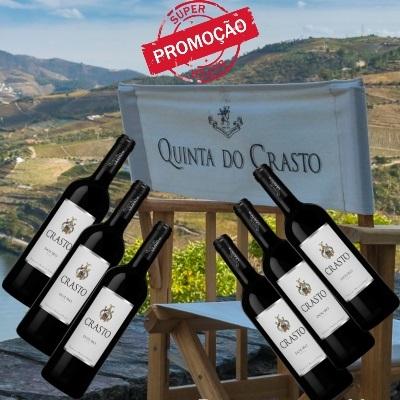 Kit 6 unidades do Vinho Português Crasto Douro Tinto 2017(750ml)