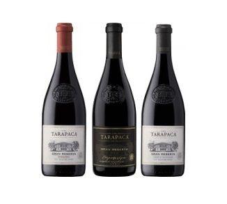 Kit Três vinhos   Chileno  Tarapacá Gran Reserva (750ml)