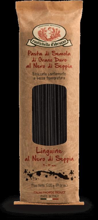 Massa Rustichella Linguine Nero Di Seppia Trafilata Al Bronzo Italiano (500G)