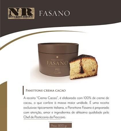 Panettone Fasano crema de cacao  (800g)