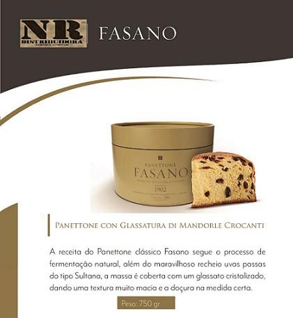 Panettone Fasano con Glassatura di Mandorle Crocanti (750g)