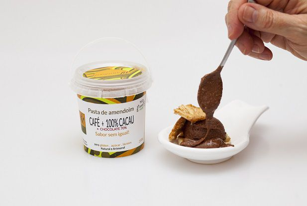 Pasta de Amendoim Café +Cacau 100% e Chocolate 70%(200G)