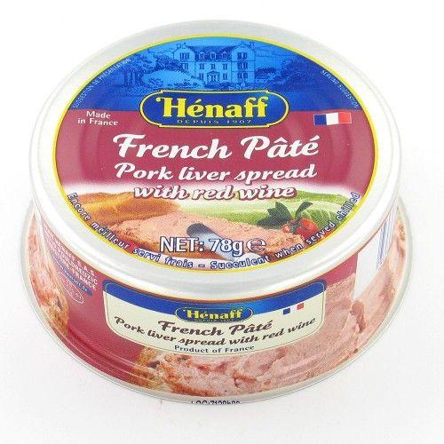 PÂTÉ FRENCH PORK LIVER HÉNAFF (PATE DE FÍGADO DE PORCO À FRANCESA)(78 g)