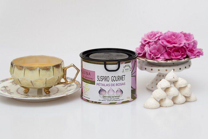 Suspiro Gourmet - Pétalas de rosas orgânicas (30G)