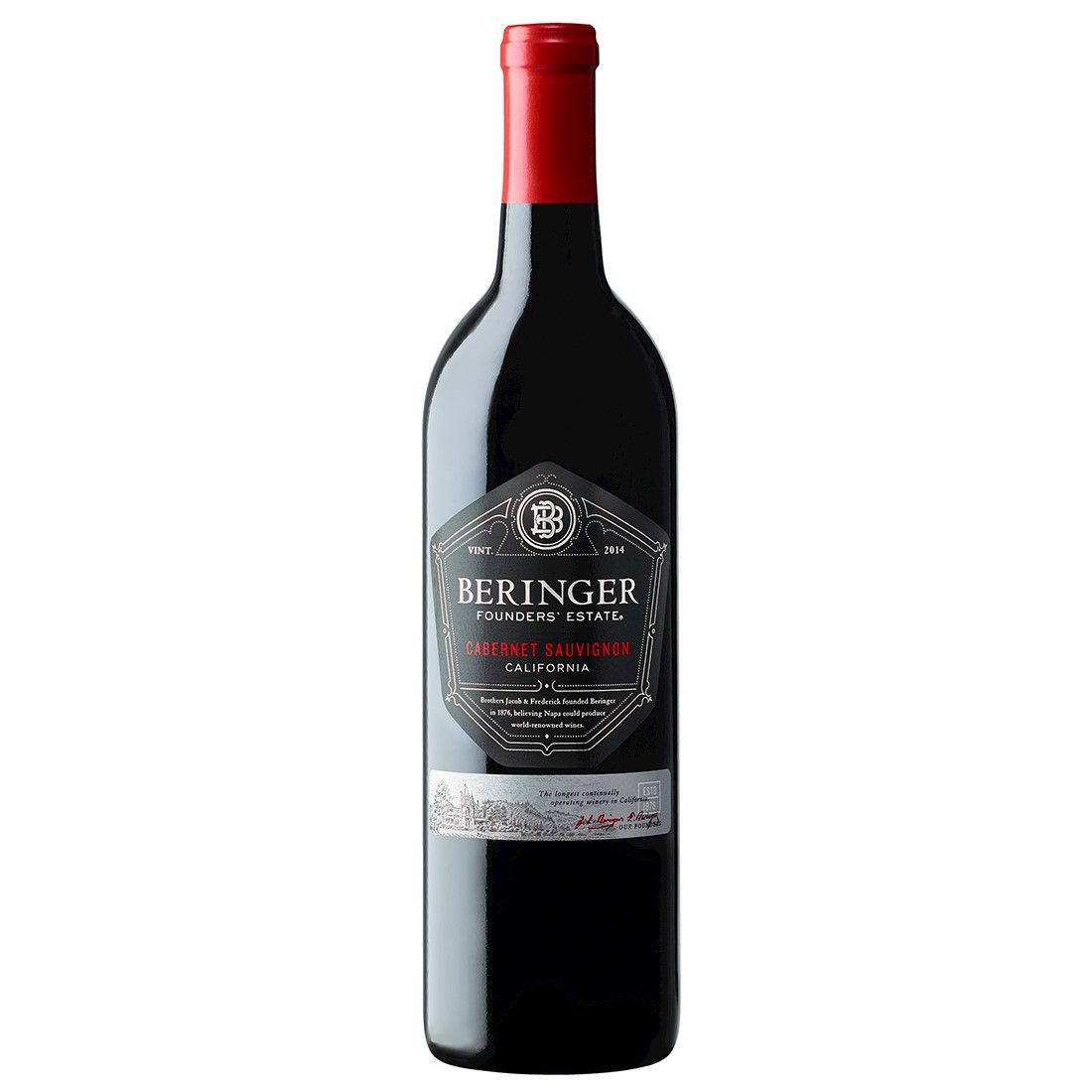 Vinho Californiano Beringer Founders Estate Cabernet Sauvignon 2016(750ml)
