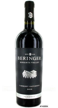 Vinho Californiano Beringer  Knights Valley 94% Cabernet Sauvignon, 4% Cabernet Franc e 2% Petit Verdot  2012(750ml)