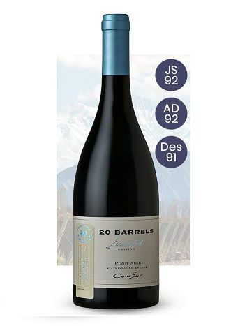 Vinho Chileno Cono Sur 20 Barrels Pinot Noir 2017(750ml)