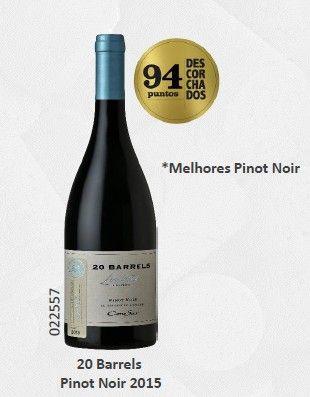 Vinho Chileno Cono Sur 20 Barrels Pinot Noir 2015(750ml)