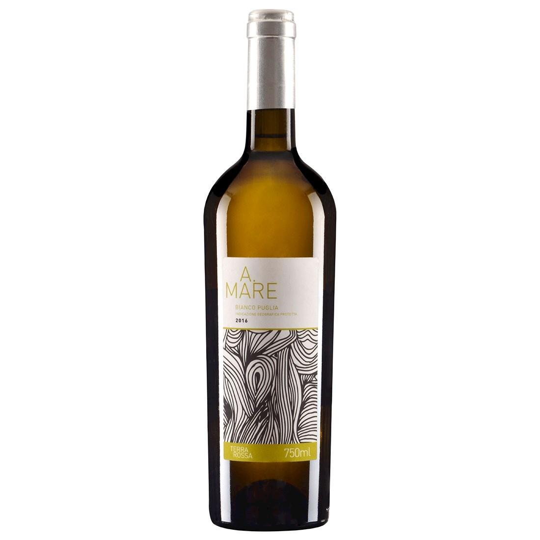 Vinho Italiano Dai Terra Rossa A.Mare Bianco Puglia IGP 2018 (750ml)