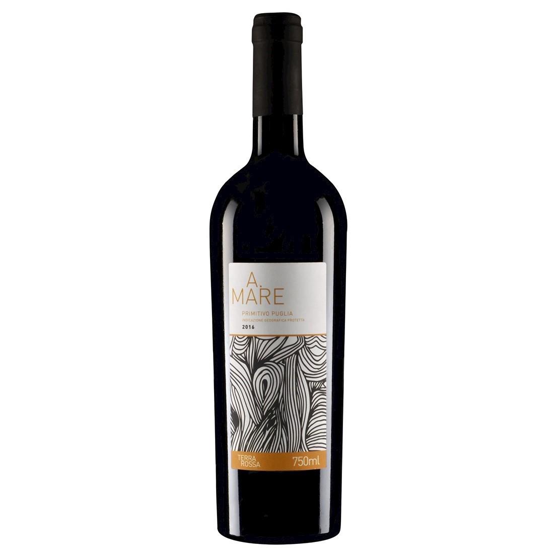 Vinho Italiano Dai Terra Rossa A.Mare Primitivo Puglia IGP 2019(750ml)