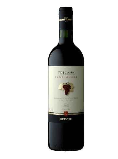 Vinho Italiano Cecchi Sangiovese di Toscana Igt 2018(750ml)