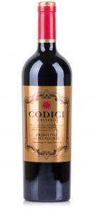 Vinho Italiano Codici Primitivo di Manduria DOC 2015(750ml)