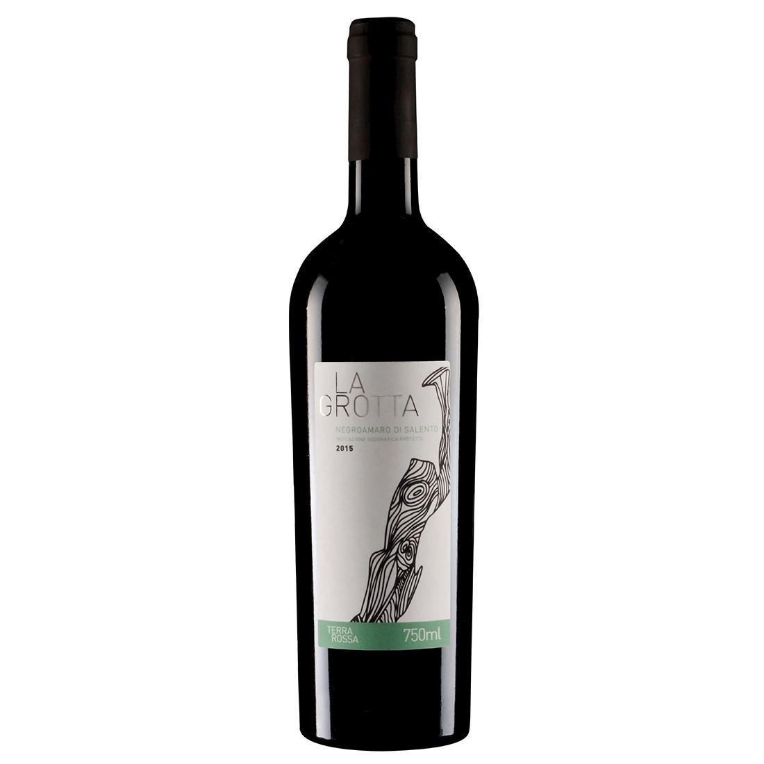Vinho Italiano La Grotta Negroamaro di Salento IGP 2015 (750ml)