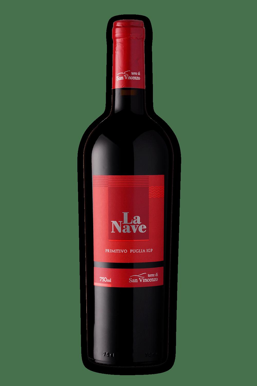 Vinho Italiano Terre Di San Vincenzo La Nave Pimitivo Igp 2018(750ml)
