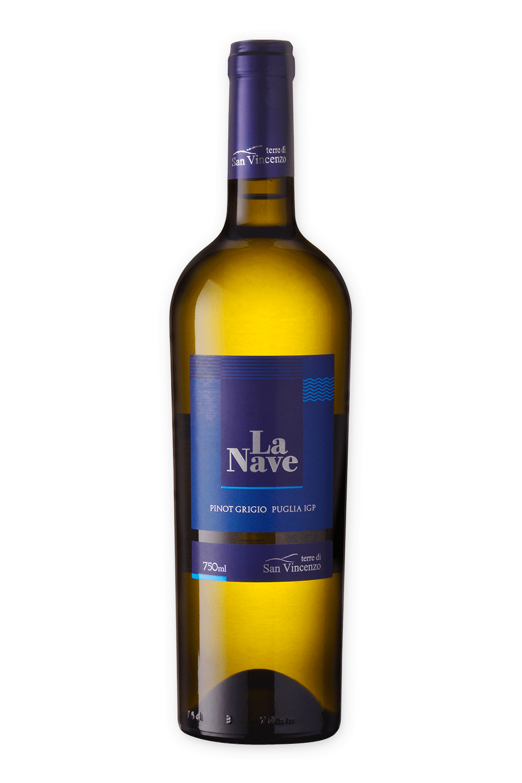 Vinho Italiano Terre Di San Vincenzo La Nave Pinot Grigio Igp 2018(750ml)