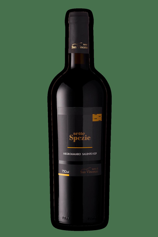 Vinho Italiano Terre Di San Vincenzo Sette Spezie Negroamaro Salento Igp 2018(750ml)