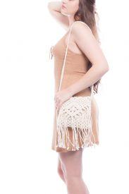 Bolsa de praia de crochê